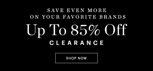 Clearance Up To 85% Off
